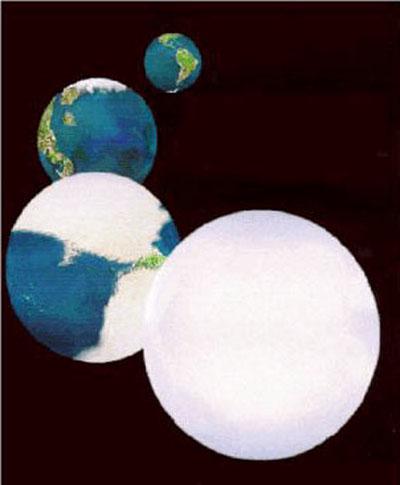 Snowball earth through modern earth